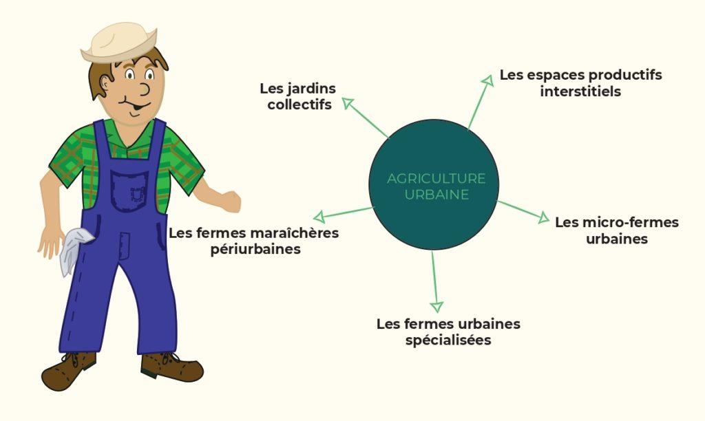 Les différentes formes/type de l'agriculture urbaine